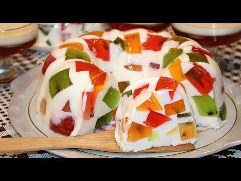 Торт из желе и сметаны рецепт с фото пошагово в домашних условиях