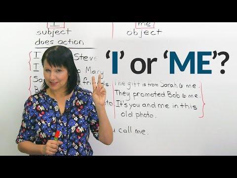 Tricky Pronouns: 'I' or 'ME'?