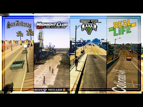 COMPARING LOS ANGELES IN ROCKSTAR'S GAMES TO REAL LIFE! GTA 5 vs Midnight Club LA vs San Andreas
