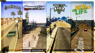 COMPARING LOS ANGELES IN ROCKSTAR'S GAMES TO REAL LIFE! GTA 5 vs Midnight Club LA vs San Andreas thumbnail