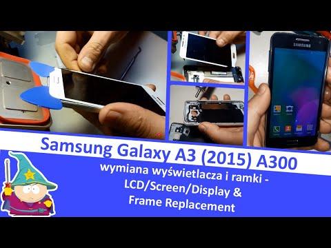 Samsung Galaxy A3 (2015) - wymiana wyświetlacza i ramki - LCD/Screen/Display & Frame Replacement