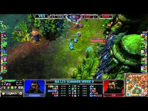 Velocity eSports (VES) vs Team Curse (CRS) || Super week NA LCS Summer 2013 W9D2 || Full Game HD