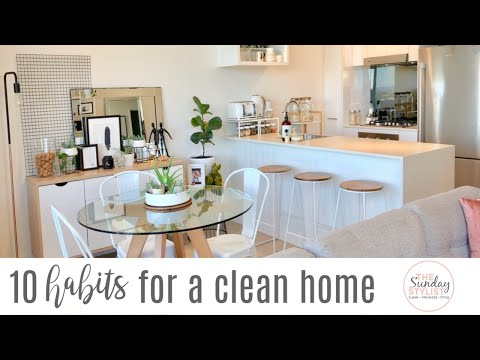 10 TIPS FOR A CLEAN AND TIDY HOME - SIMPLE HABITS FOR AN ORGANIZED HOME || THE SUNDAY STYLIST