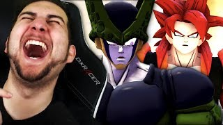 Wait... GOGETA'S A FURRY NOW?! | Kaggy Reacts to Cell VS Knuckles, SSJ4 Goku, Gogeta and CHRISTMAS