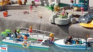 Playmobil Family Boat with Sea Animals Toys Playset Fun Toys For Kids in the Pool