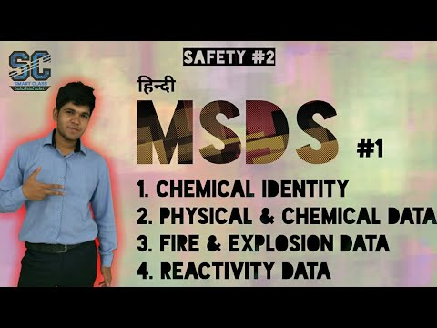 [Hindi] MSDS #1 Material Safety Data Sheet #1 Section 1 to 4
