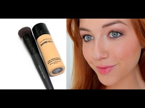 Bare Minerals Bare Skin >> NEW Bare Minerals Bare Skin Serum Foundation Demo/Thoughts - YouTube