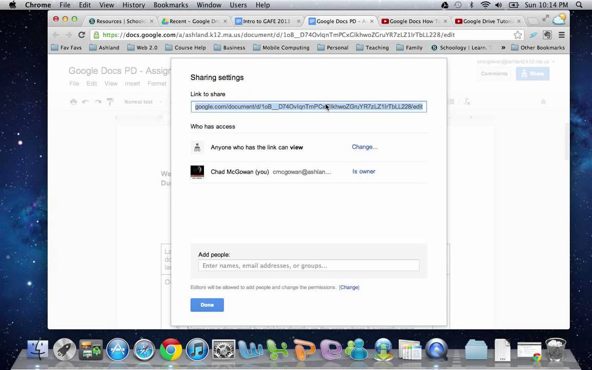 Sharing a Google Document with multiple users at once - YouTube