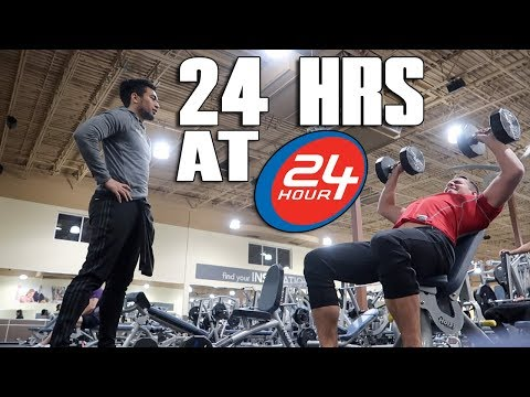 Working Out For 24 Hours At 24 Hour Fitness