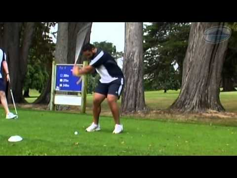 The Blues play Speed Golf