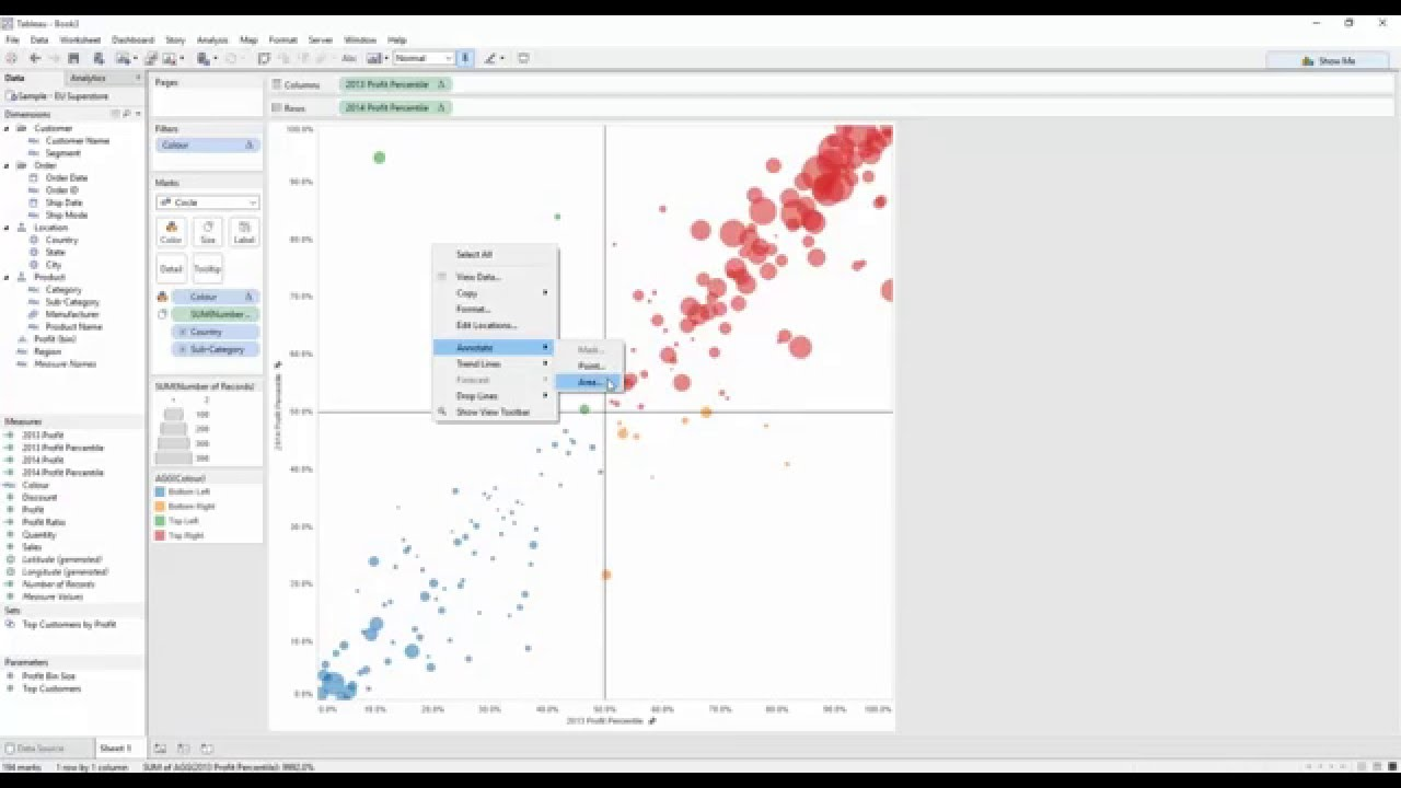 Tableau Good To Great Quadrant Analysis