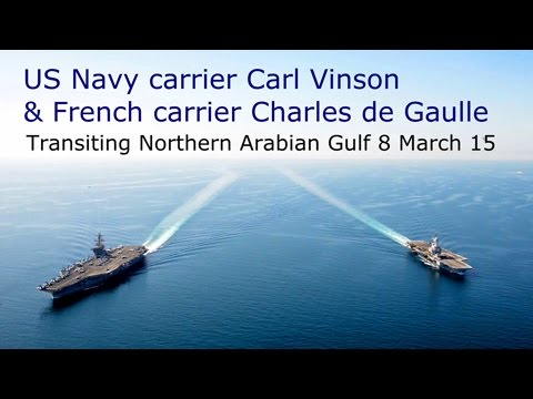 French and US Aircraft Carriers - 8 March 2015