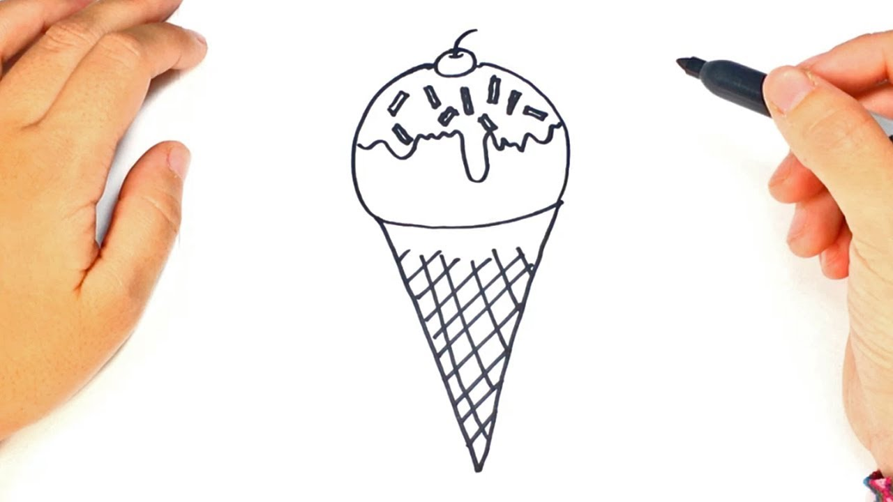 Como Dibujar Y Colorear Helados: Como Dibujar Un Helado Paso A Paso