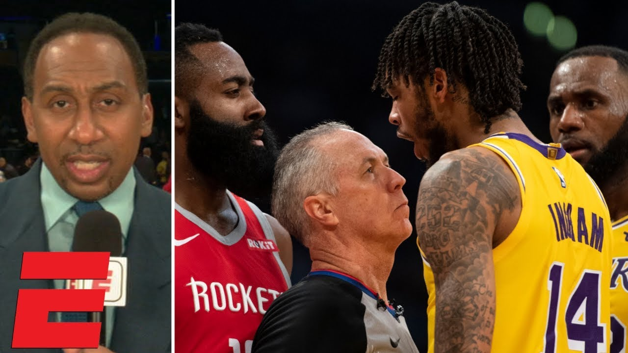 Stephen A. reacts to Lakers vs. Rockets fight during LeBron's Staples Center debut | SportsCenter