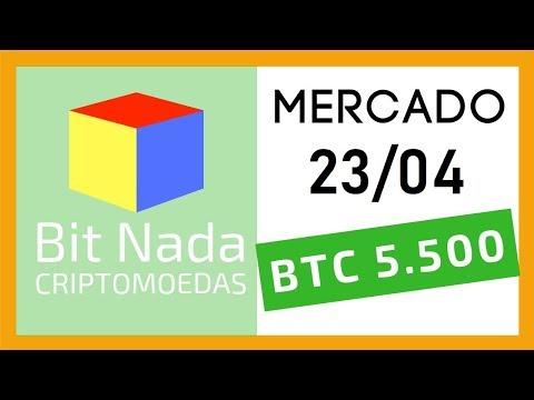 Mercado de Cripto! 23/04 Bitcoin 5.500 USD! /Meetup Campinas / GoT / BNB
