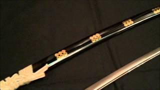 模造刀(美術刀)真田幸村 六文銭拵 黒呂鞘 ¥17280 http://www.taiyo-p...