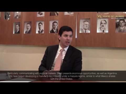 Voices Of Leaders interviews Santiago Peña Palacios Finance Minister of Paraguay