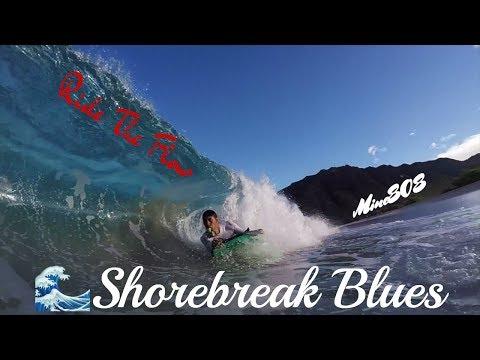 Hawaii Bodyboarding Shorebreak Blues----POV & GoPro