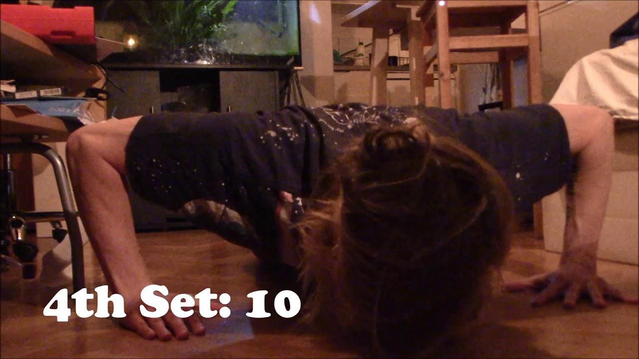 100 Pushup Challenge: Day 1 - Week 4