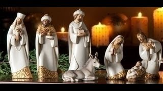 Elegant Ceramic Nativity Set - 7.5 Inch - Rm0318