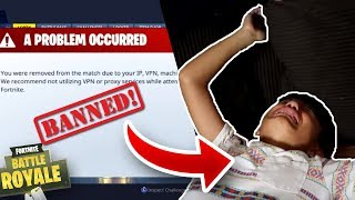 Little Brothers Fortnite Account Gets BANNED! Extreme Rage! (Prank)