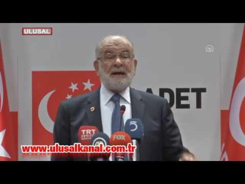 Saadet Partisi Lideri Temel Karamollaoğlu: Büyük Bir Gaflet