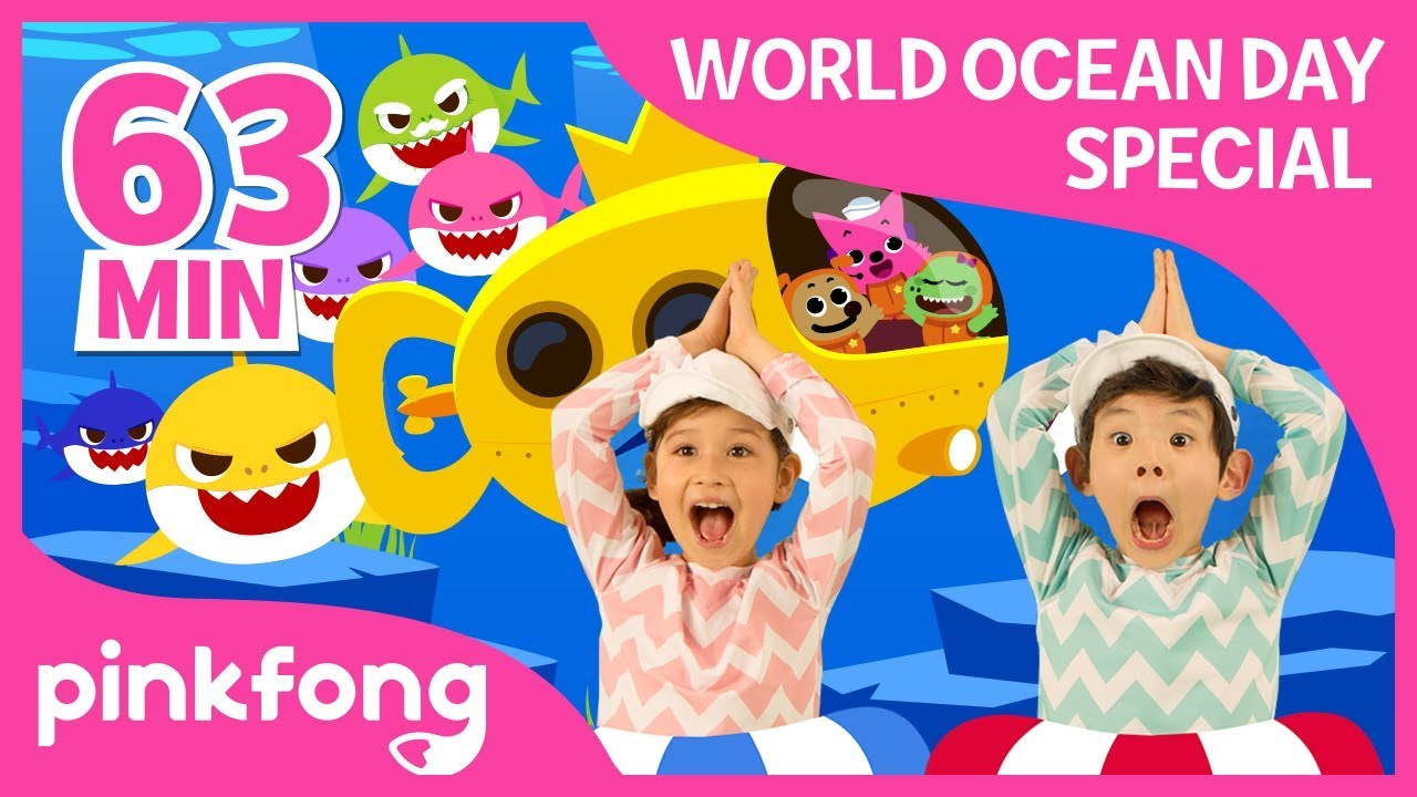 Baby Shark Dance and more | World Ocean Day | +Compilation | Pinkfong Songs for Children