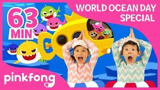 Download Video Baby Shark Dance and more | World Oceans Day | +Compilation | Pinkfong Songs for Children MP3 3GP MP4