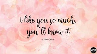 I Like You So Much, You'll Know It - Ysabelle Cuevas Lyric A Love So Beautiful OST