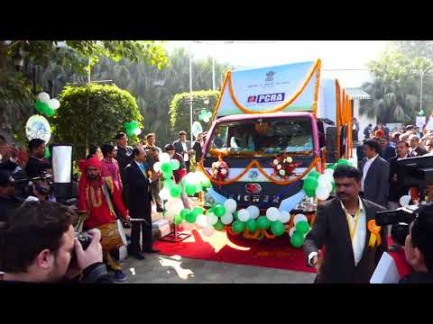 PCRA Publicity Van being Flagged Off