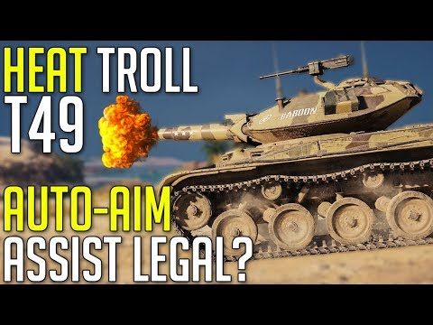 Full HEAT DERP T49 • Auto-Aim Assist Legal? ► World of Tanks T49 Gameplay thumbnail