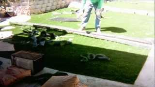 Synthetic Grass Installation - Backyard - La Mesa, CA - 11302