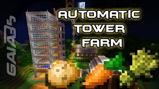 How to Build an Automatic Tower Farm in Minecraft