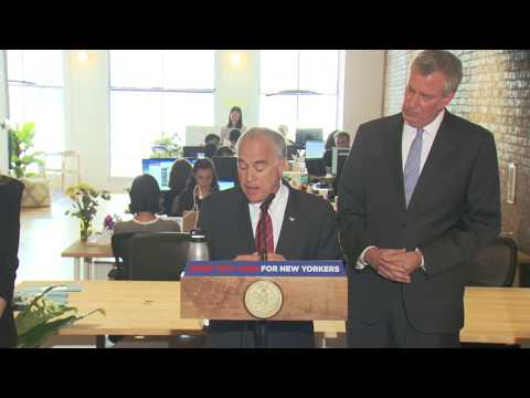 Mayor de Blasio Delivers Remarks on Growing Tech Jobs in New York City