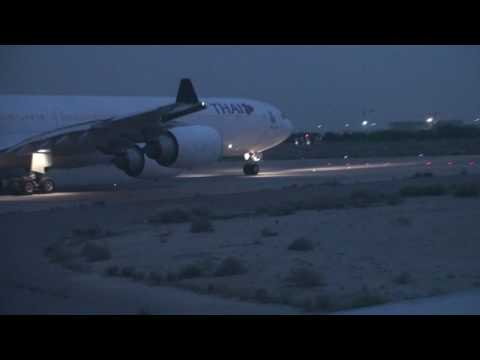 wataniya airways taxi and take off from kuwait airport