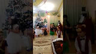 Смешные дети. новогодний танец. утренник в детском саду.