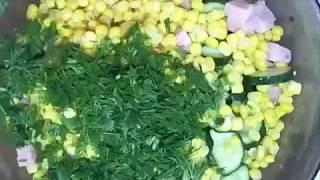 """Салат """"Весенний"""". Овощной-ПП салат"""