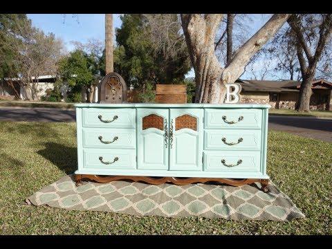 Furniture Makeover: Painting a Blue Dresser DIY