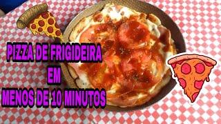 SUPER PIZZA DE FRIGIDEIRA FÁCIL - pizza de frigideira em  10 minutos #pizza #pizzadefrigideira