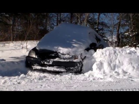 1998 honda civic 1 6 y7 cold start , deep snow drives out youtube
