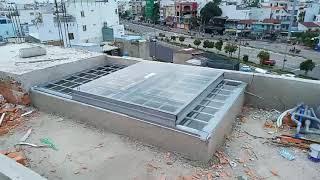 Công trình mái giếng trời trượt tự động - Gò Vấp