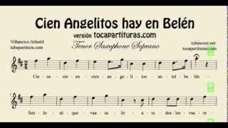 Cien Angelitos hay en Belén Sheet Music for Tenor Saxophone and Soprano Saxophone