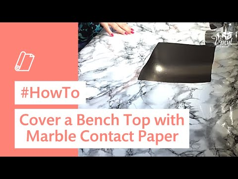 How To Cover A Bench Top With Marble Contact Paper Youtube