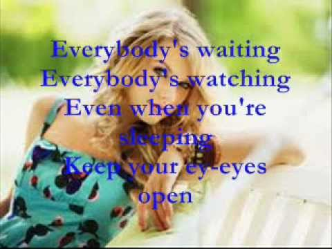Eyes Open(Hunger Games) - Taylor Swift Lyrics on screen