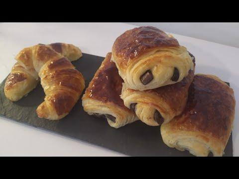 recette-pain-chocolat-/-chocolatine-/-croissant-/-french-croissant-/-متزايد
