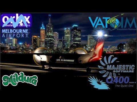 Mildura To Melbourne. Majestic Dash-8 Meanders Into The Milkrun