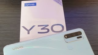 Unboxing Vivo Y30 Ram 4GB / 128GB White Indonesia