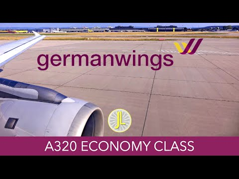 Germanwings A319 Vienna to Berlin via Stuttgart Flight Report Review