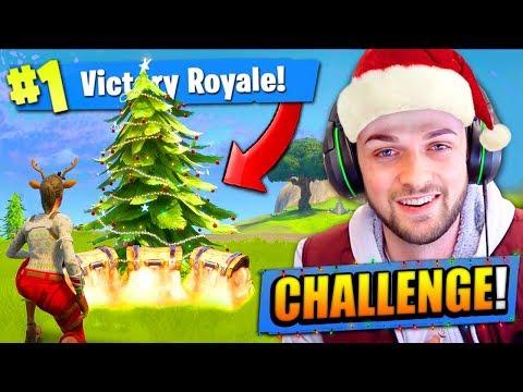 CHRISTMAS TREE CHALLENGE in Fortnite: Battle Royale!