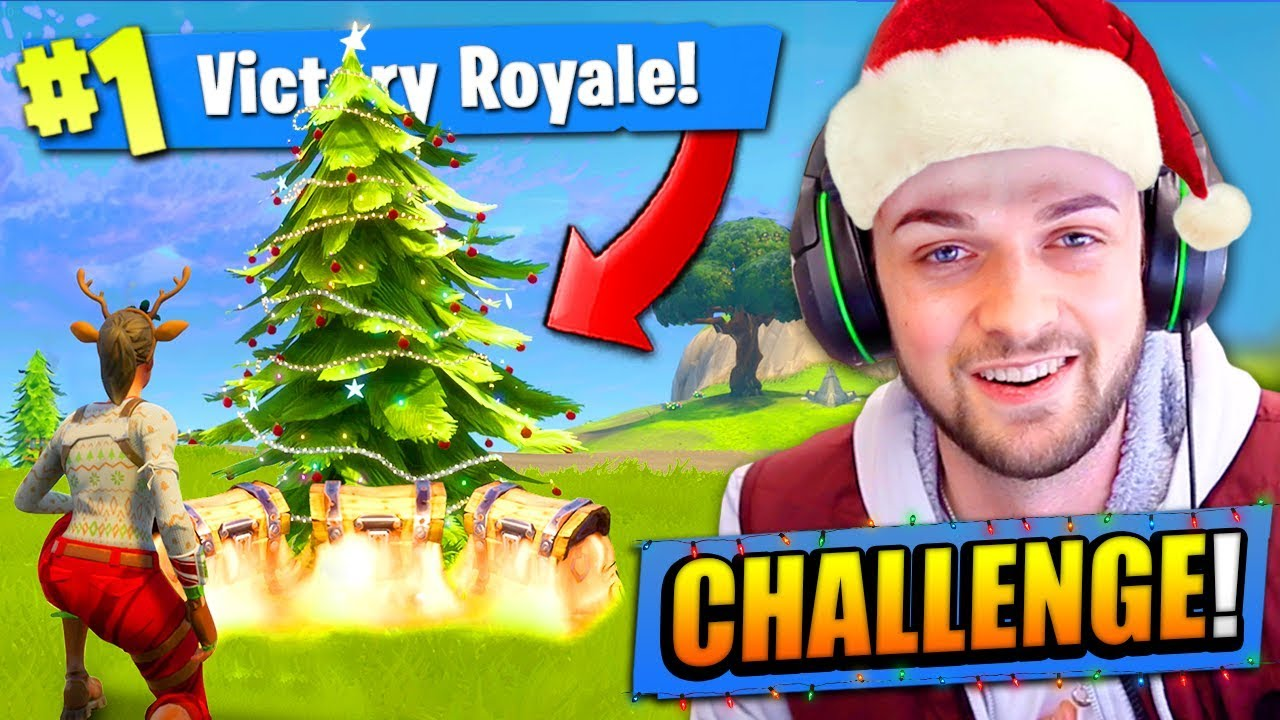 Christmas Tree Challenge In Fortnite Battle Royale Youtube